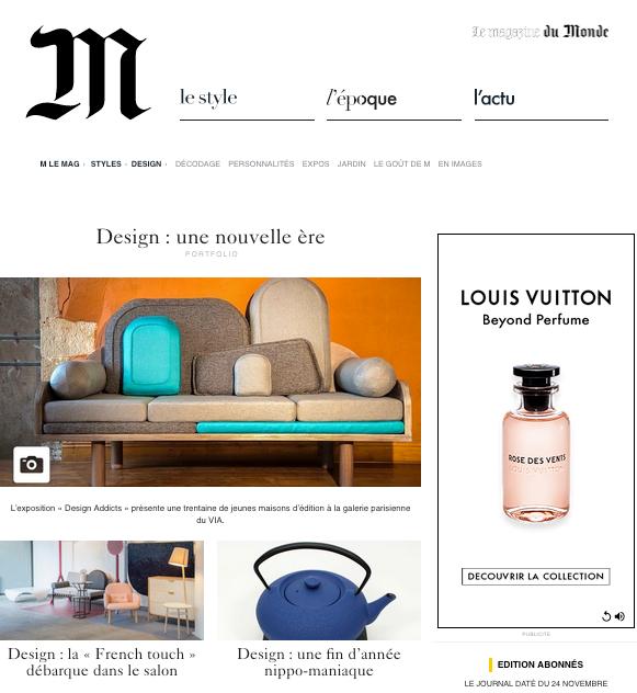 Canapé Couchino par Margaux Keller pour Le point D sur le site Le Monde