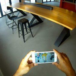 Essayer un meuble en réalité augmentée directement chez soi