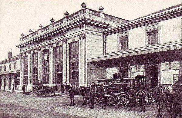 Gare du centre ville de Valence dans les année 1800