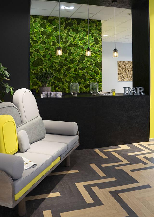 Aménagement déco bureaux - showroom Le point D.