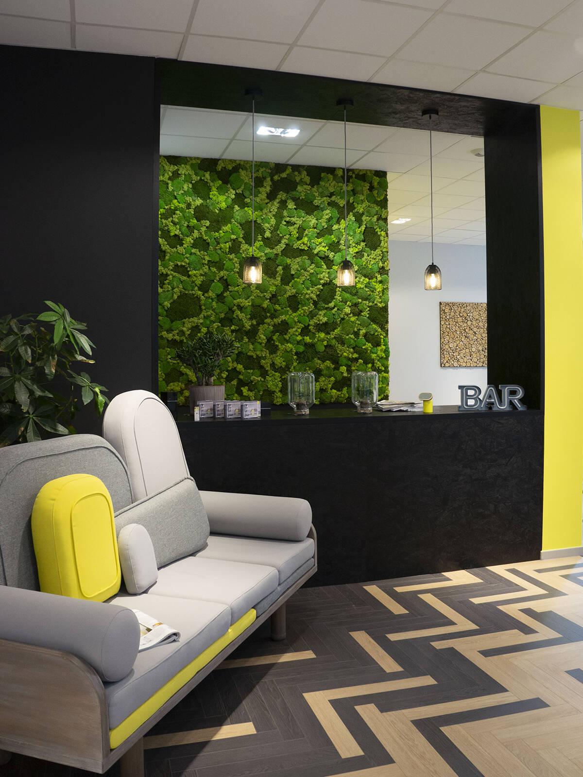 Bureaux Showroom Le point D - un projet de décoration et d'agencement pour vous acceuillir dans les meilleures conditions