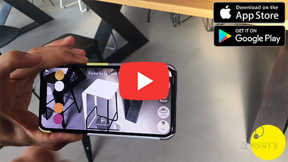 Augmented reality by Le point D