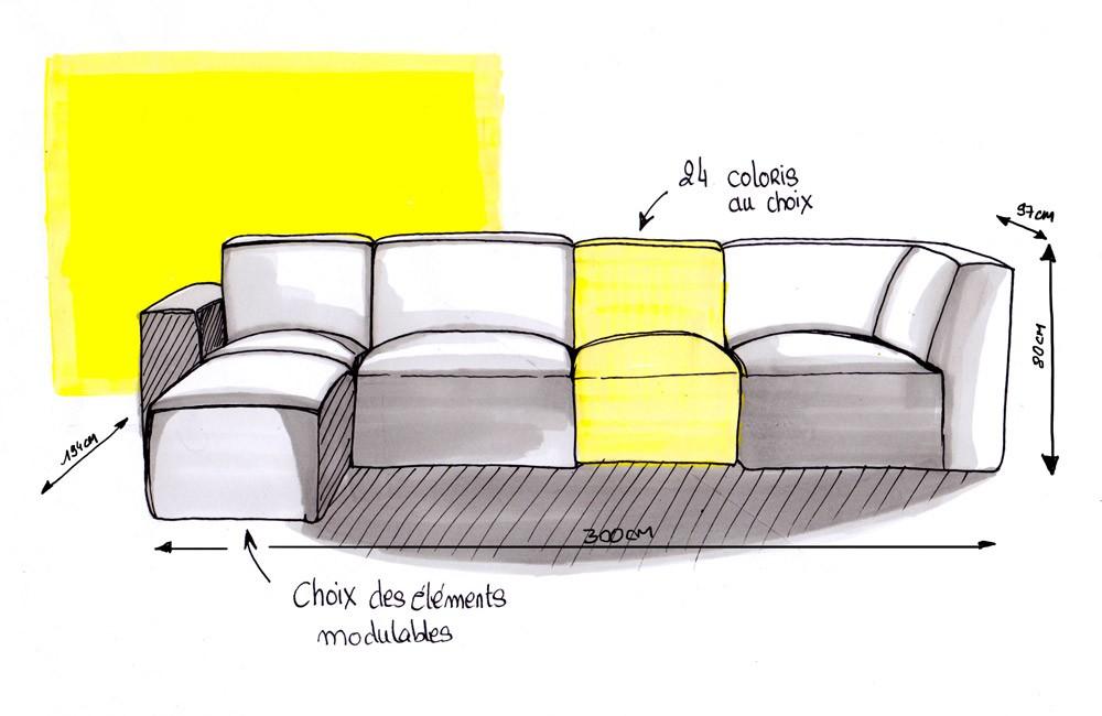 canap cubik une exclusivit le point d. Black Bedroom Furniture Sets. Home Design Ideas