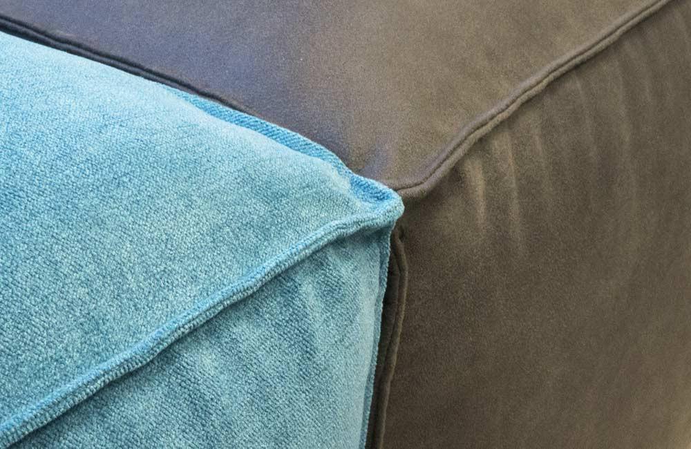 Tissu aspect velours ou cuir retourné